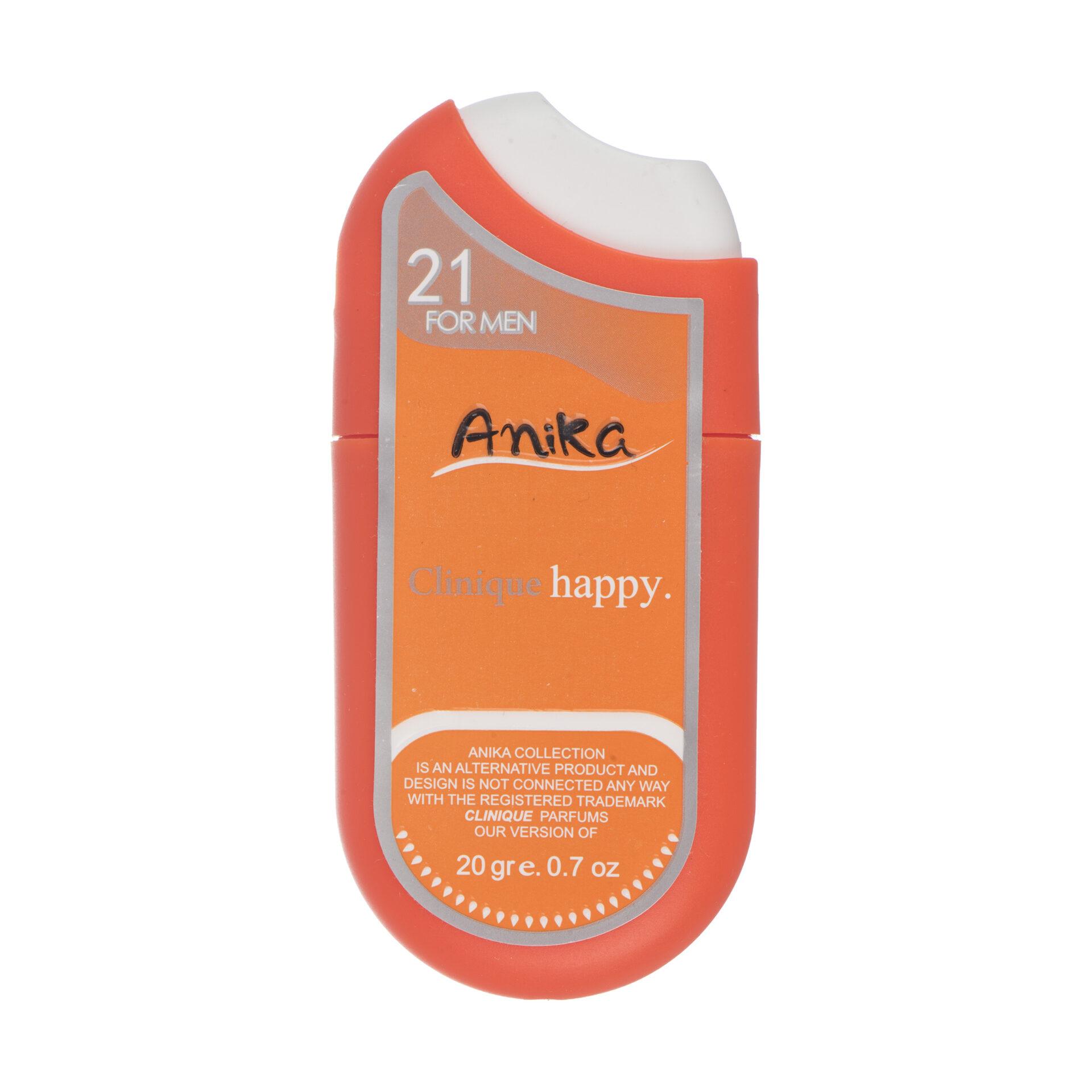 عطر جیبی مردانه آنیکا مدل Clinique Happy حجم 20 میلی لیتر