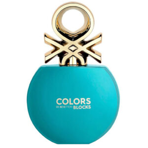 ادو تویلت زنانه بنتون مدل Colors de Benetton Blocks Blue حجم 80 میلی لیتر
