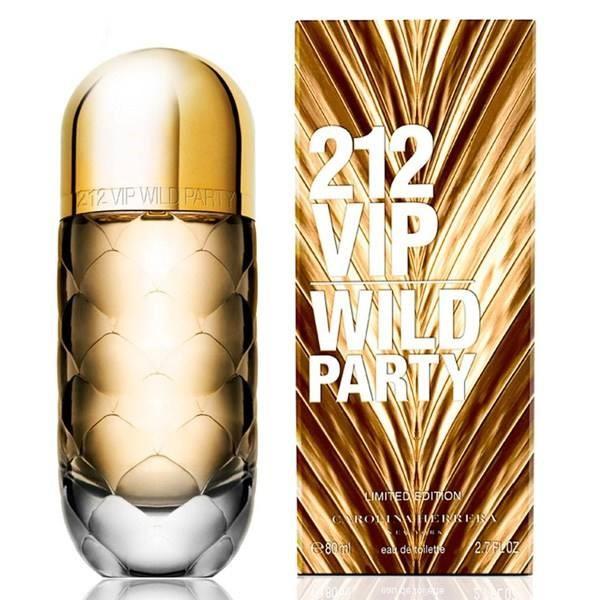 ادو تویلت کارولینا هررا مدل 212 VIP Wild Party حجم 80 میلی لیتر