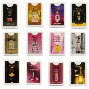 پک 12 عددی عطر جیبی زنانه سورفین با جعبه و استند