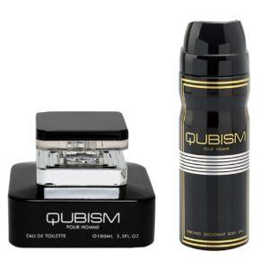 ادو تویلت مردانه امپر مدل Qubism حجم 100 میلی لیتر  به همراه اسپری مردانه امپر مدل کوبیسم