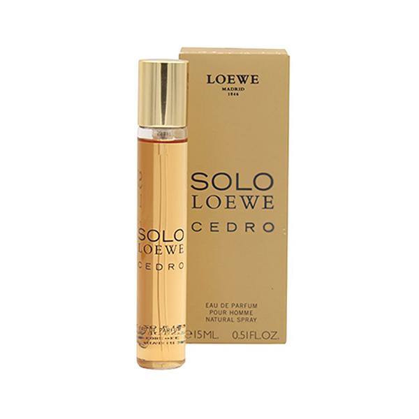 عطر جیبی مردانه لووه مدل Solo Loewe Cedro