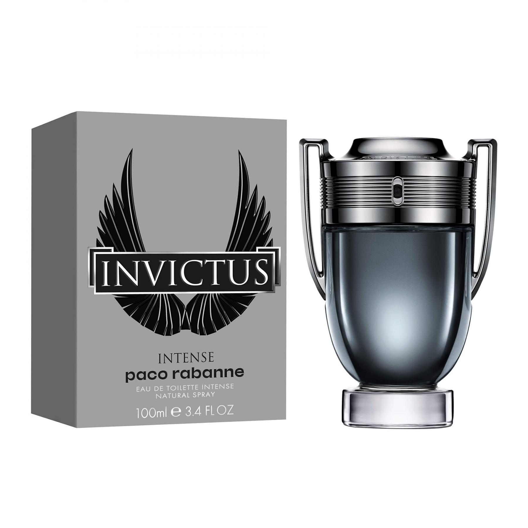 ادو تویلت مردانه پاکو رابان مدل Invictus Intense حجم 100 میلی لیتر