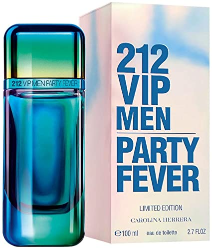 ادو تویلت مردانه کارولینا هررا مدل VIP 212 Men Party Fever حجم 100 میلی لیتر